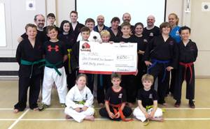 Excalibur raised £1,230 at GTI 100 Rounds of Sparring thanks to the generosity of our friends, family and the Excalibur Martial Arts and Bridgnorth community