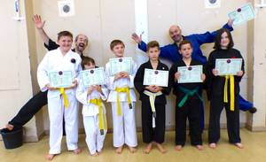 Some of our successful Junior students after passing their colour belt grading