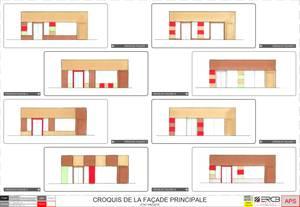 Transformation et aménagement d'une épicerie fine en centre ville d'etréchy (91)